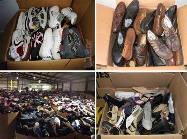 Kho giày cũ với đủ kiểu dáng và size