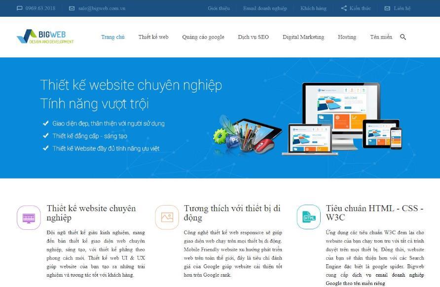 Bigweb: Công ty thiết kế website chuyên nghiệp tại TpHCM