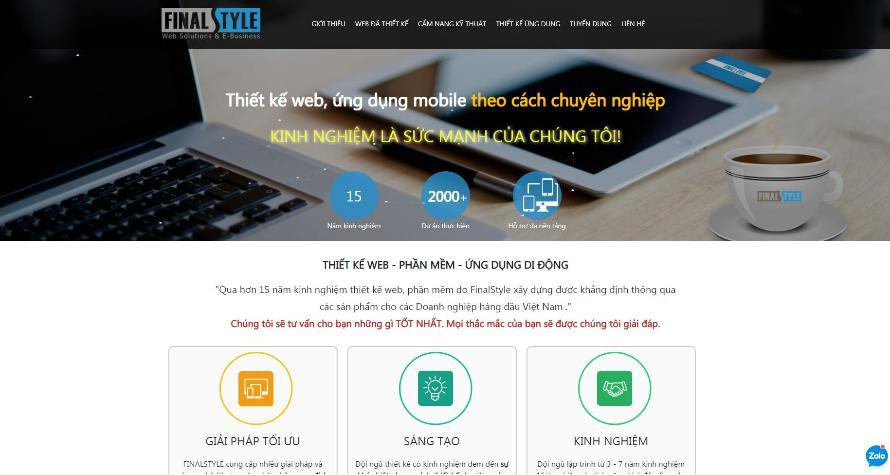 FINALSTYLE: Công ty thiết kế web chuyên nghiệp, uy tín