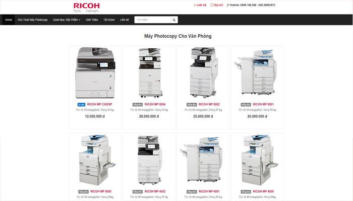 Công ty phân phối máy, phụ kiện máy photocopy - RICOH