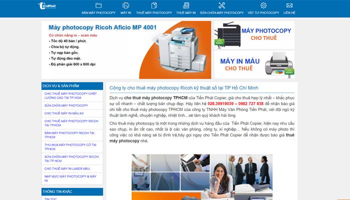 Cửa hàng sửa máy photocopy tại TP.HCM - Tiến Phát Copier